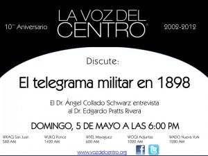 El telegrama militar en 1898