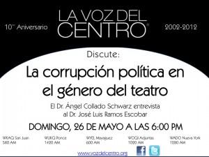 La corrupción política en el género del teatro