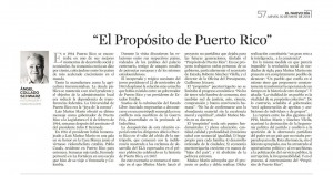 El propósito de Puerto Rico