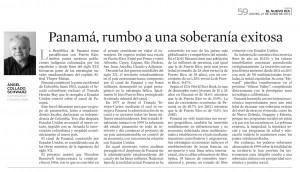 Panamá, rumbo a una soberanía exitosa