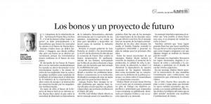 Los bonos y un proyecto de futuro