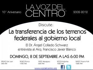 La transferencia de los terrenos federales al gobierno local