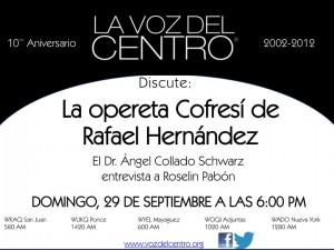 La opereta Cofresí de Rafael Hernández