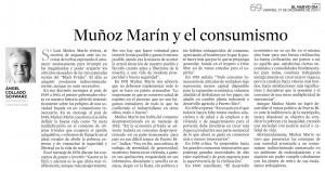 Muñoz Marín y el consumismo