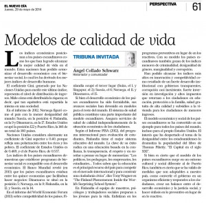 Modelos de calidad de vida