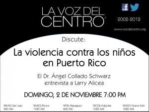 La violencia contra los niños en Puerto Rico