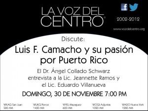 Luis F. Camacho y su pasión por Puerto Rico