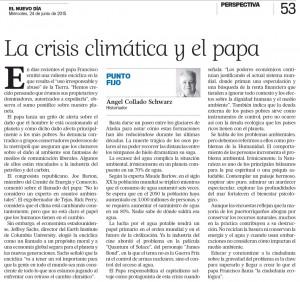 La crisis climática y el papa