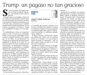 2016-02-27 TRUMP UN PAYASO NO TAN GRACIOSO