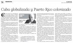 2016-11-24 CUBA GLOBALIZADA Y PUERTO RICO COLONIZADO